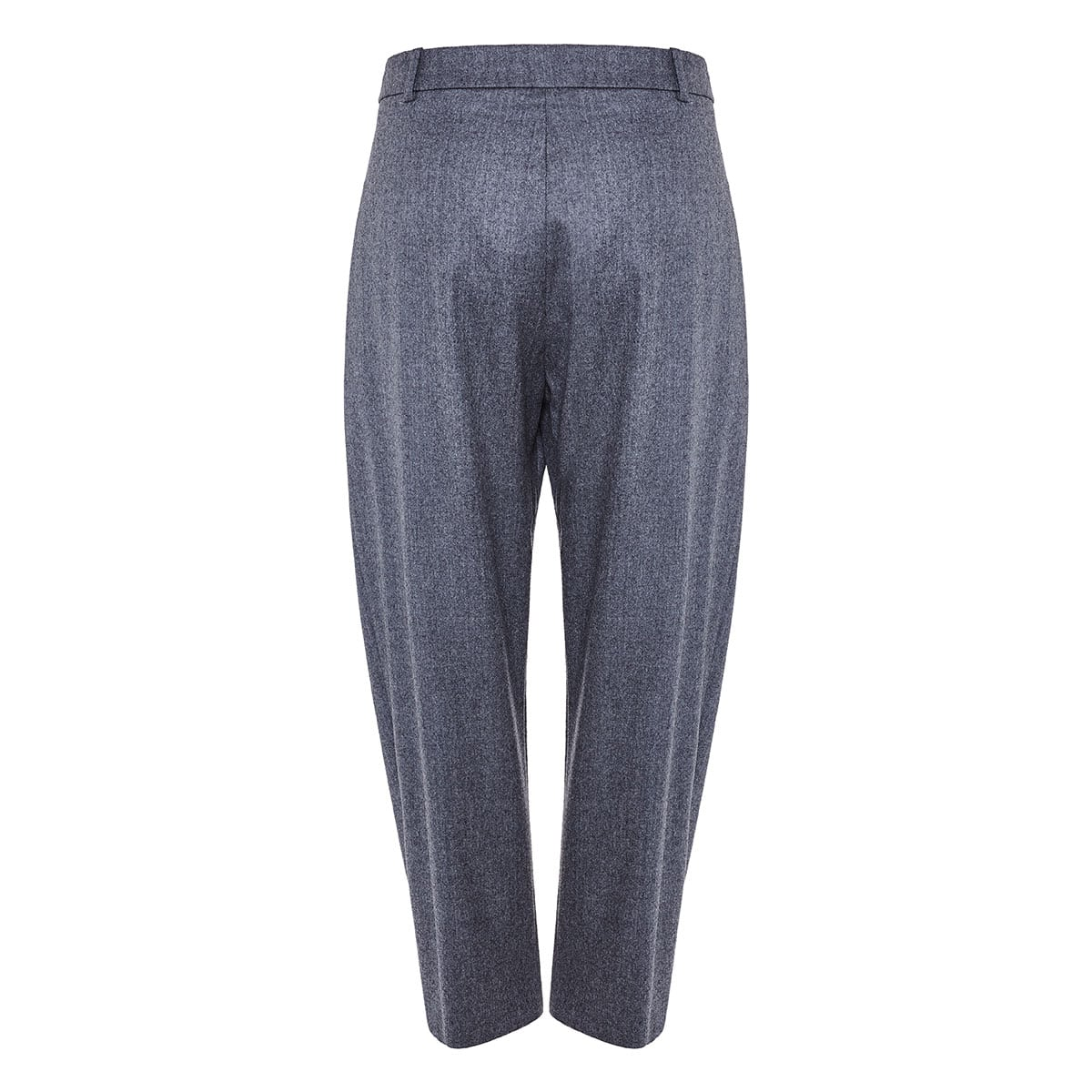 Flannel cropped tapered trousers