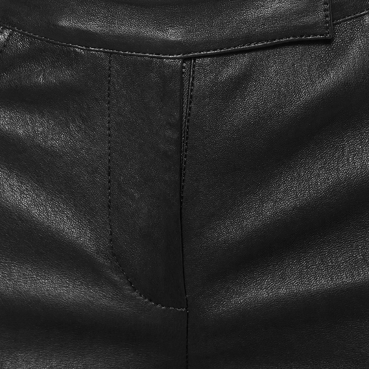 Faux-leather cropped trousers