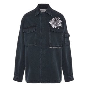x Undercover embroidered denim overshirt