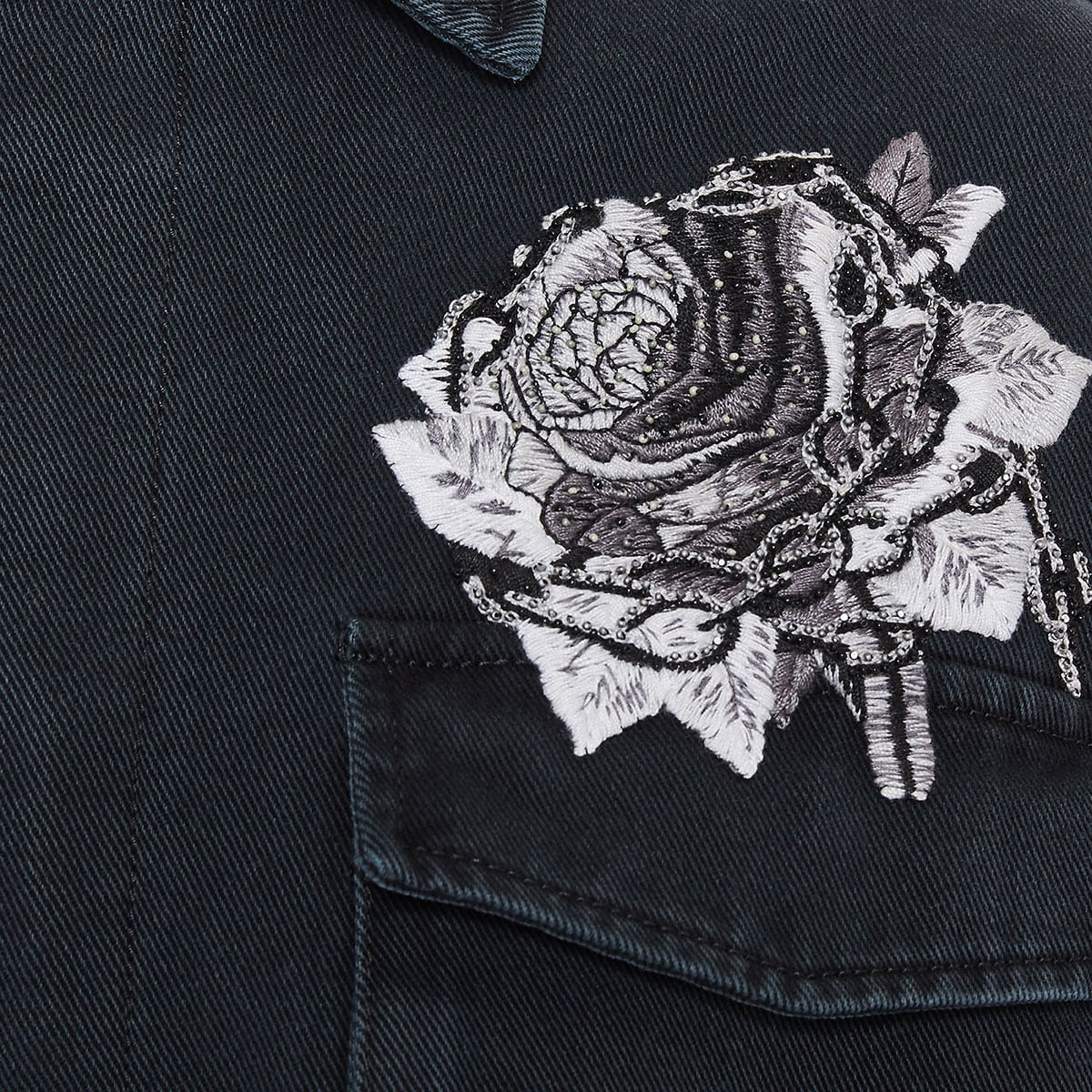 x Undercover embroidered denim overshirt