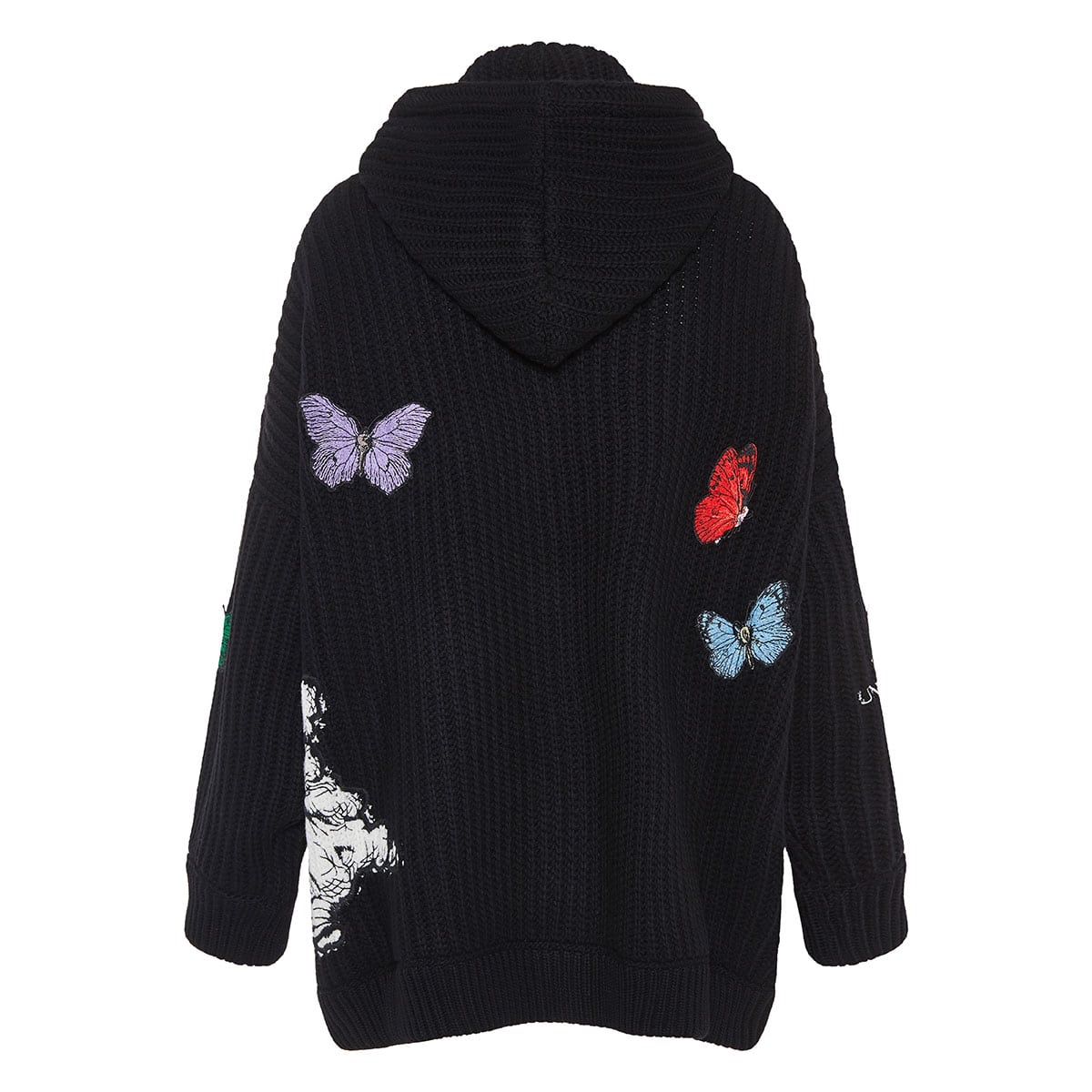 x Undercover oversized embroidered zipper cardigan