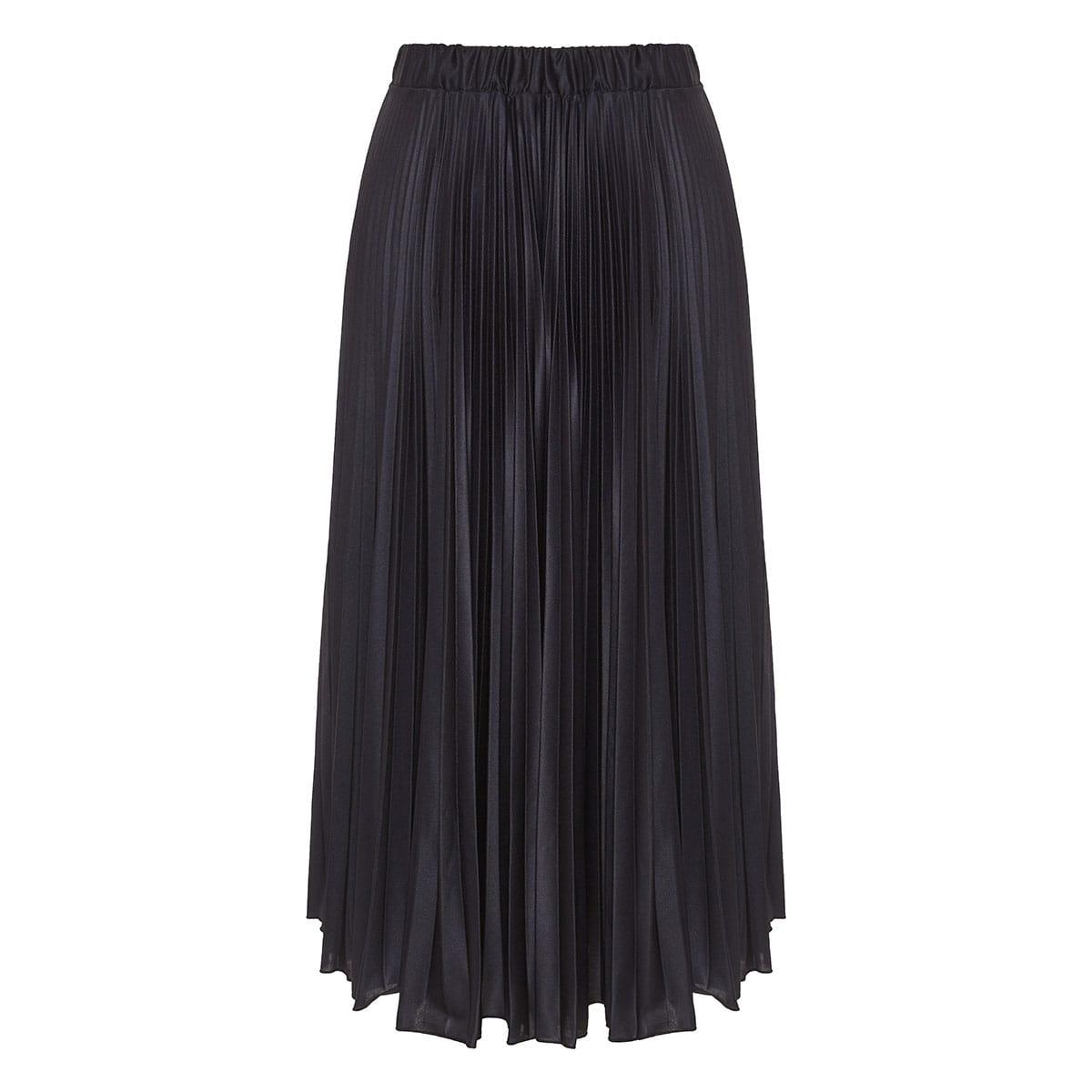 x Undercover lovers-print pleated midi skirt