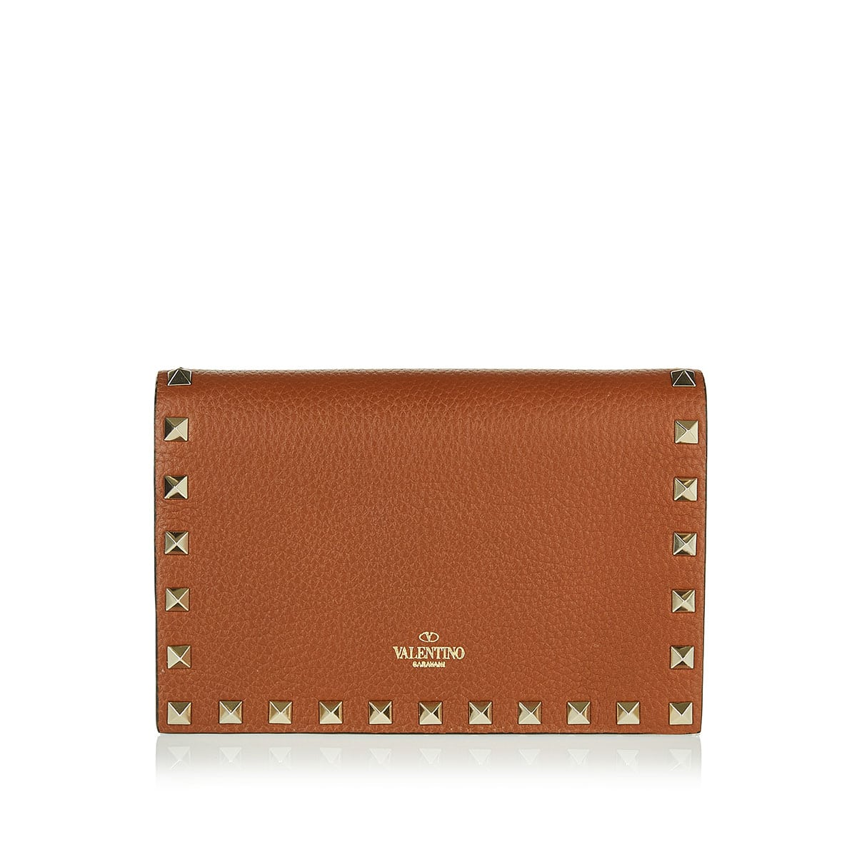 Rockstud leather chain bag