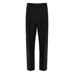 Wool-mohair tailored trousers