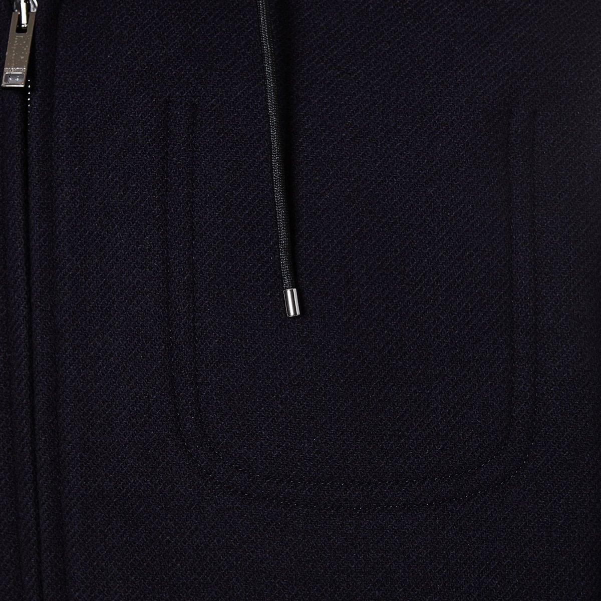 Hooded wool jacket