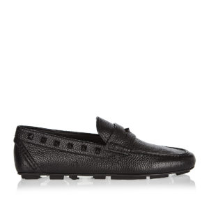 Rockstud leather loafers