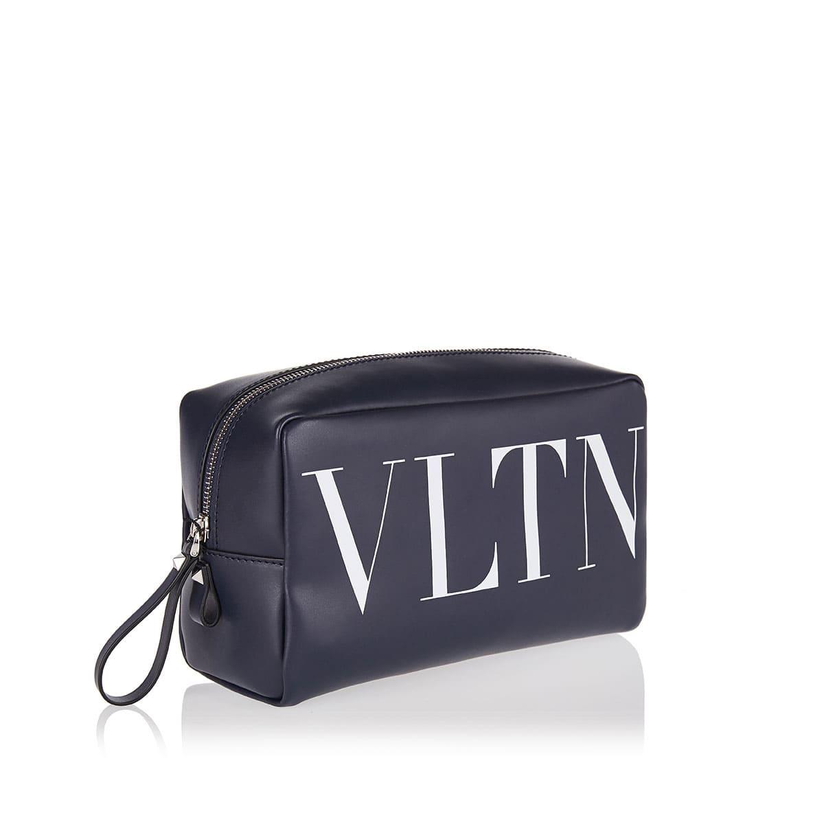 VLTN leather wash bag