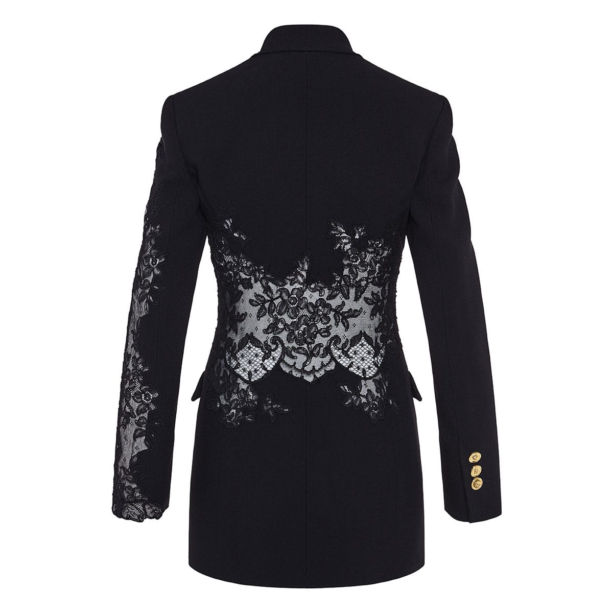 Lace-paneled blazer