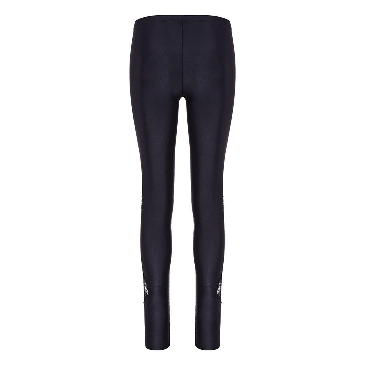 Lace-paneled leggings