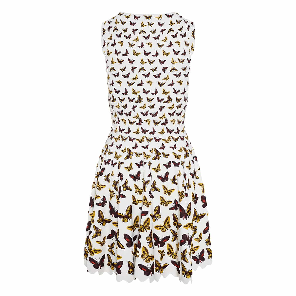Butterfly fit-and-flare knitted dress
