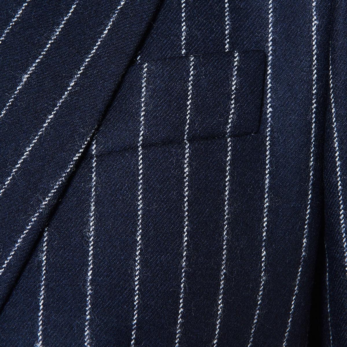 Single-breasted structured pinstripe blazer