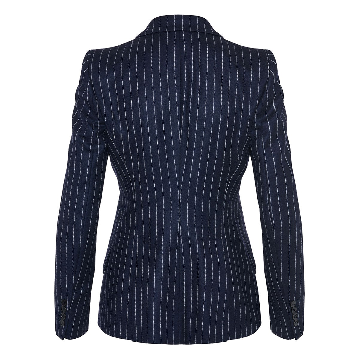 Single-breasted structured pinstripe blazer