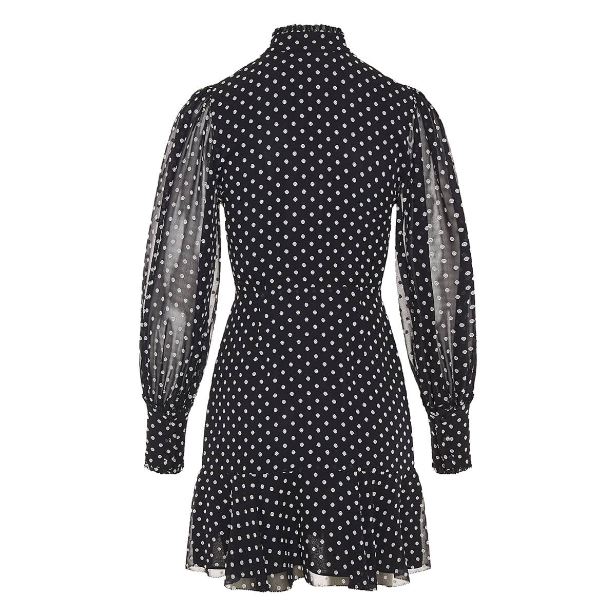 Ivette bow-tie polka-dot mini dress