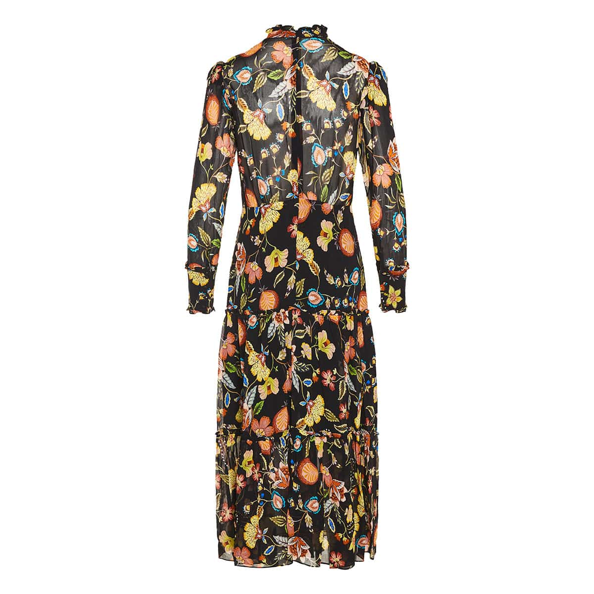 Sabryna floral long tiered dress