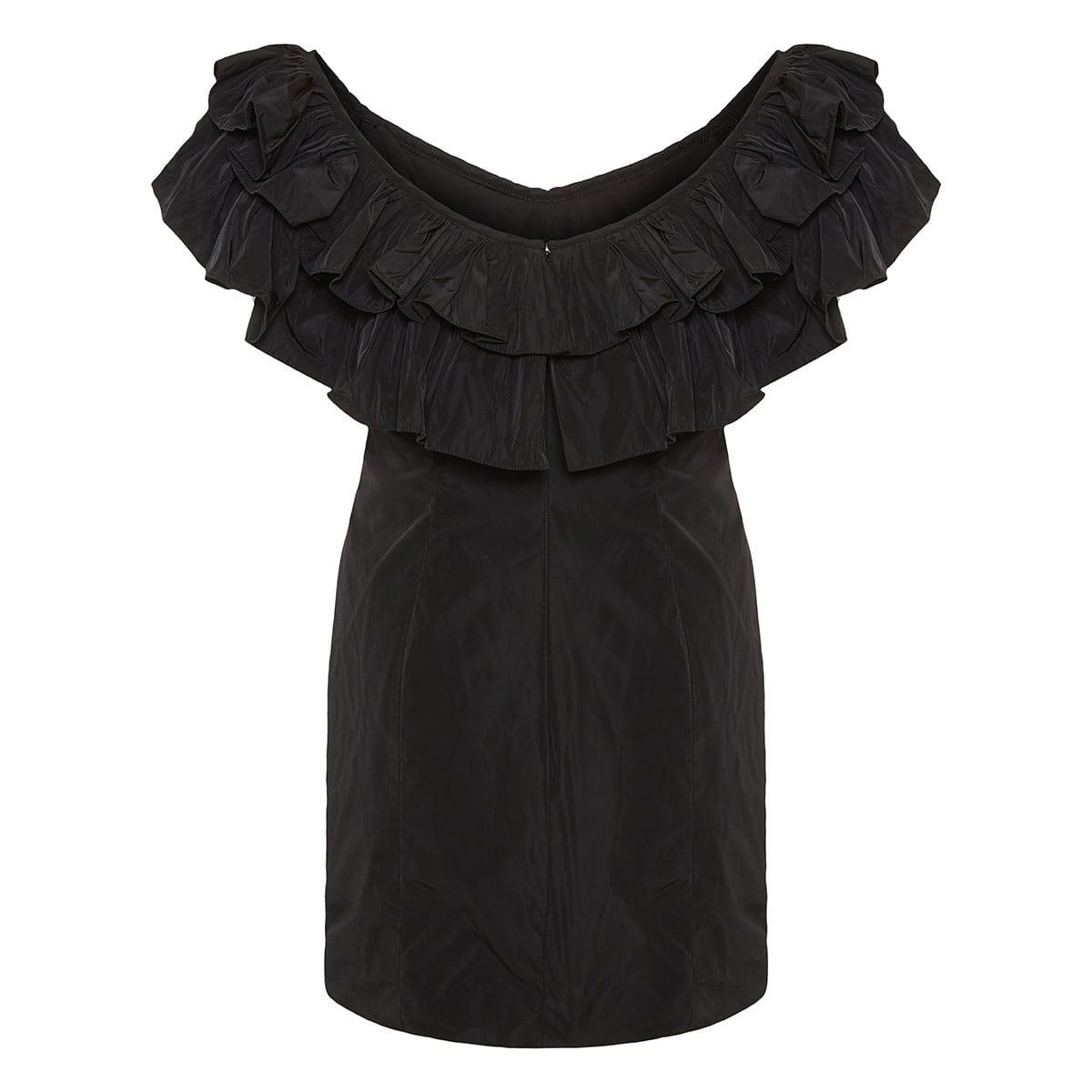 Benicia ruffle-trimmed draped mini dress