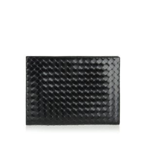 Intrecciato leather document case