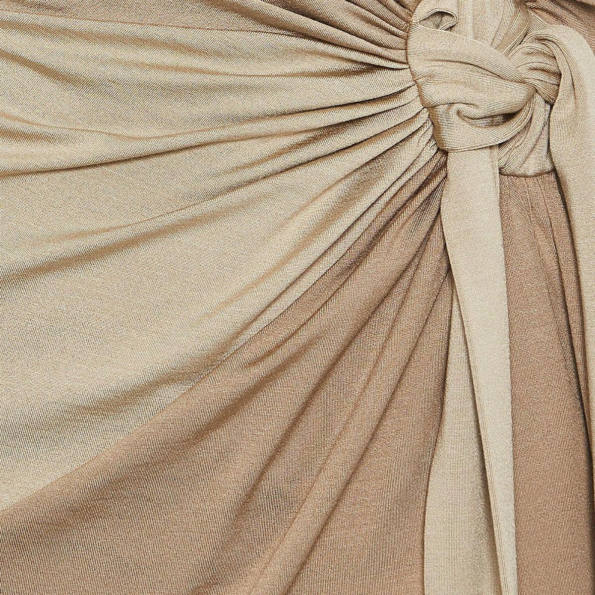 Tie detail silk jersey dress