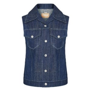 Embellished denim gilet