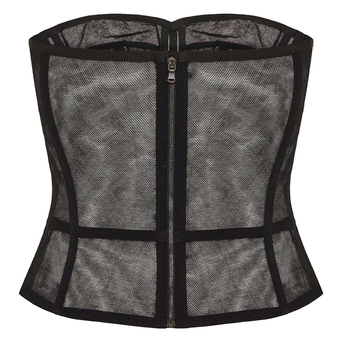 Sheer tulle corset top