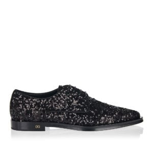 Sequin lace-up shoes