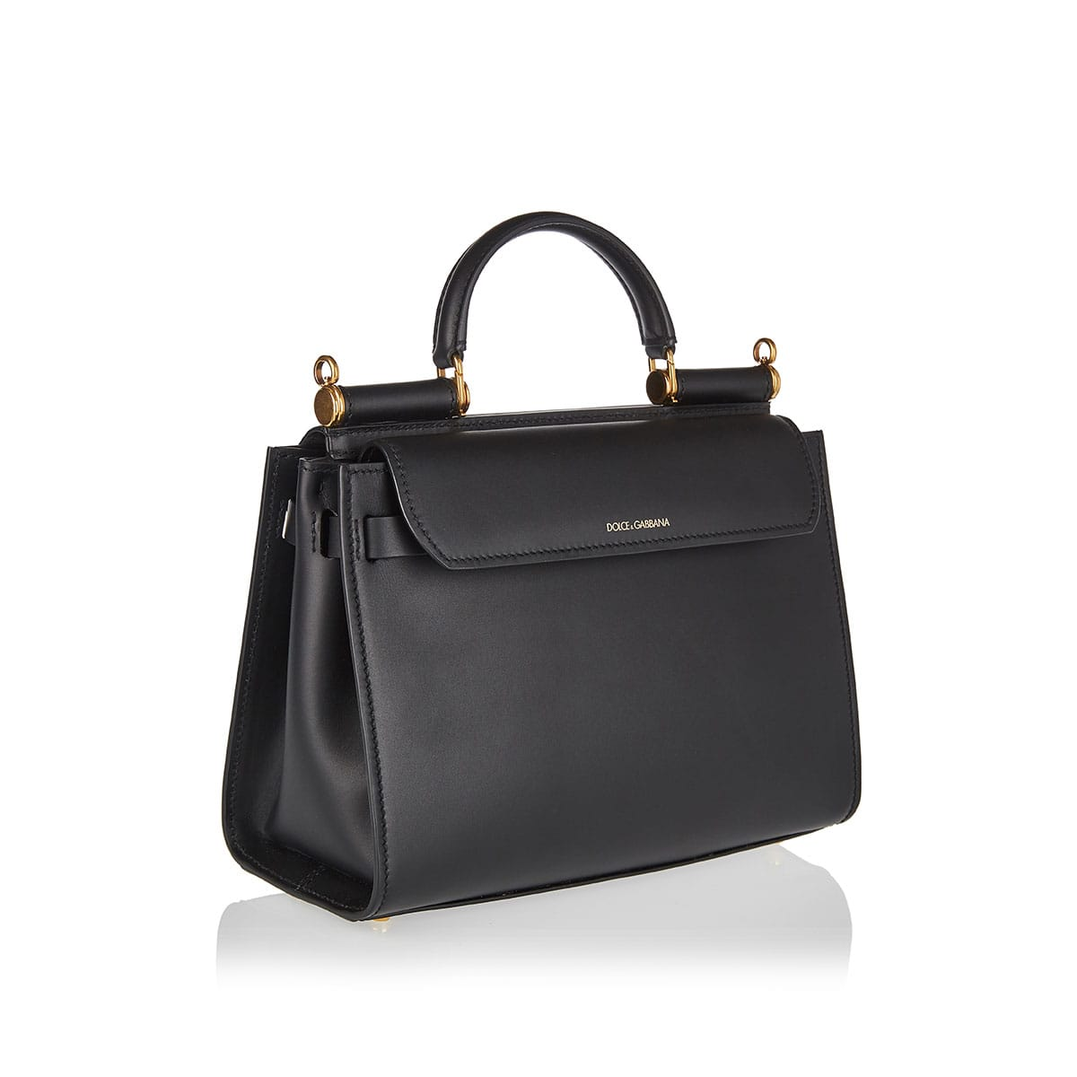 Sicily top-handle leather bag