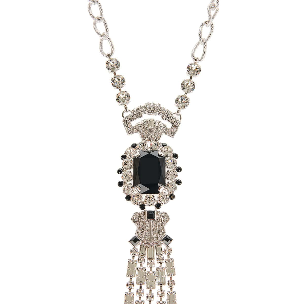Crystal-embellished charm necklace