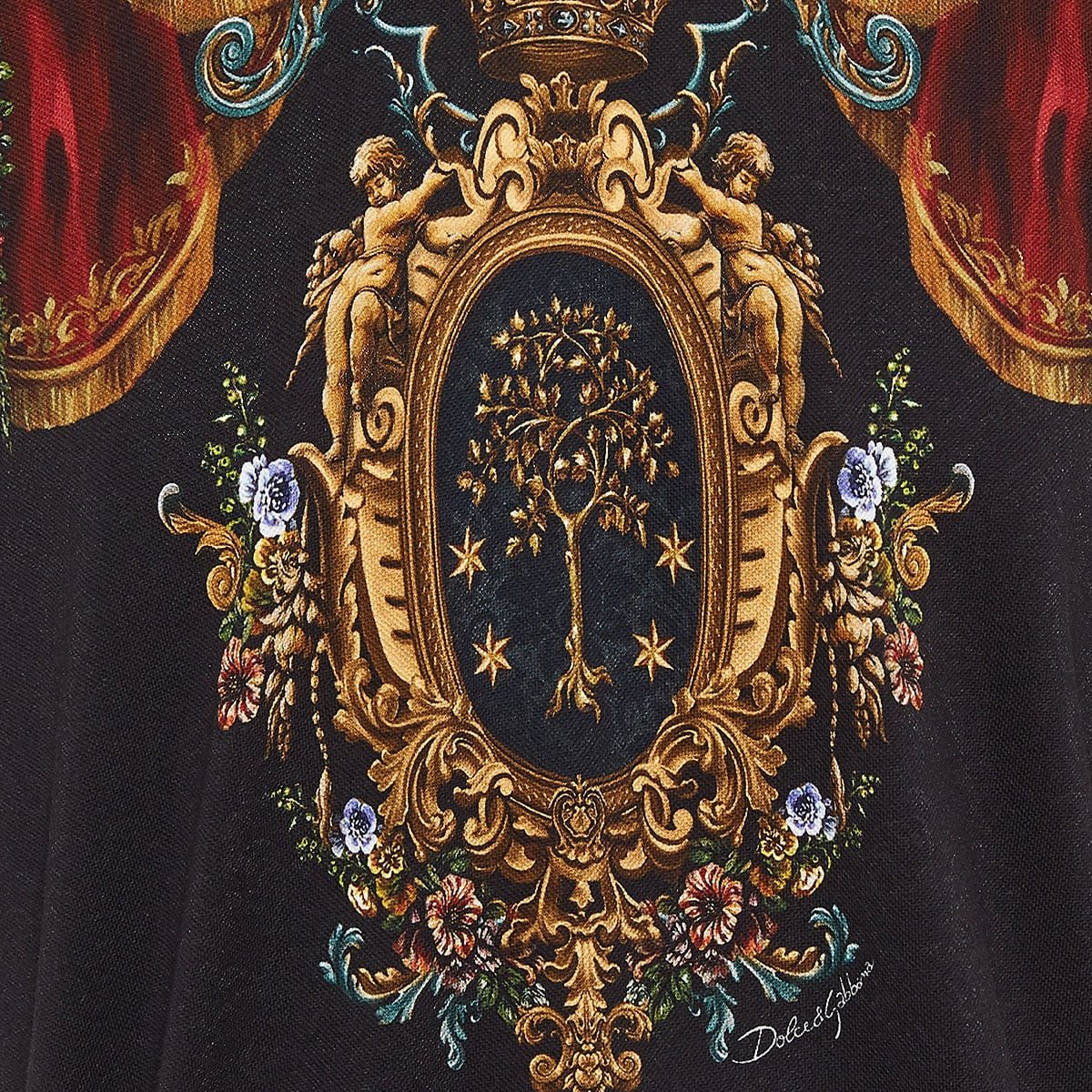 Printed jacquard polo shirt