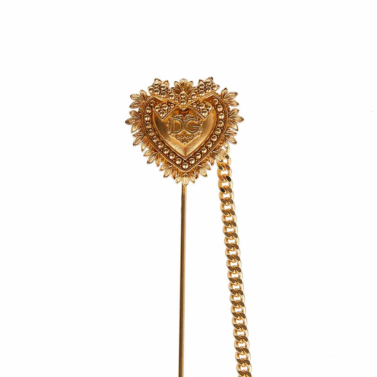 Sacred heart gold-plated pin