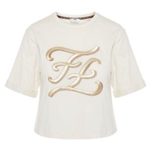 FF Karligraphy cropped t-shirt