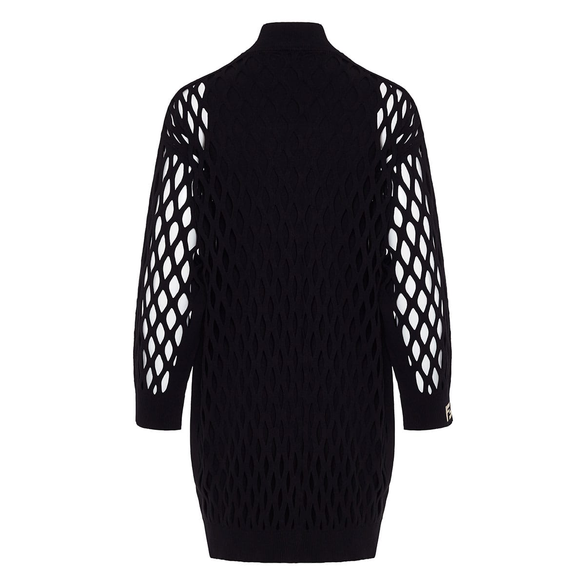 FF mesh-paneled knitted dress