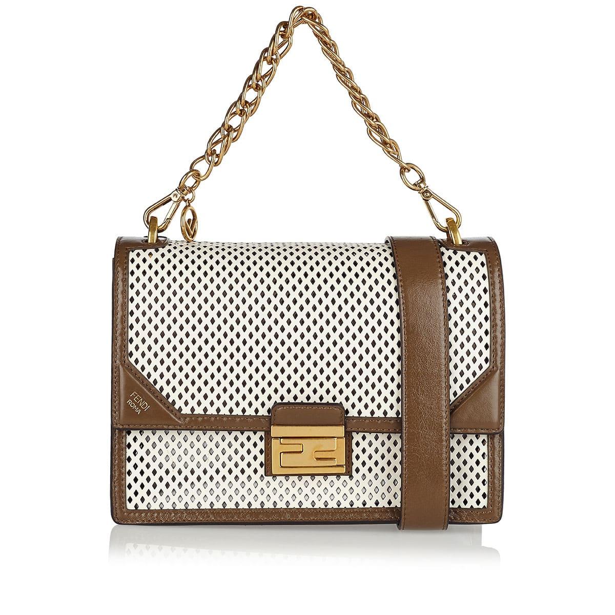 Kan U perforated leather shoulder bag