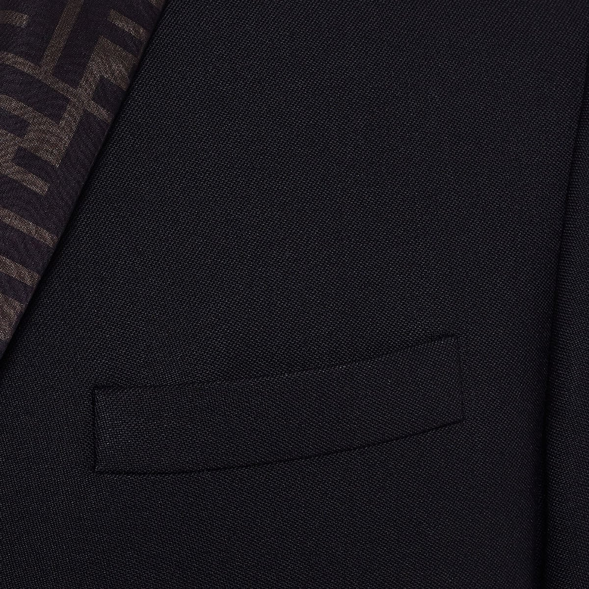 FF-detailed single-breasted blazer