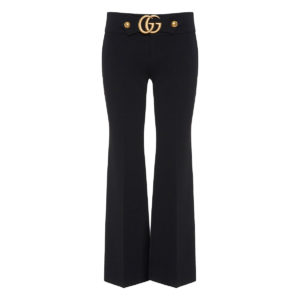 GG flared cropped trousers