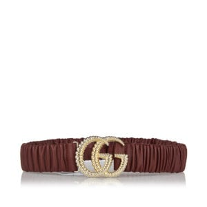 GG elasticated leather belt