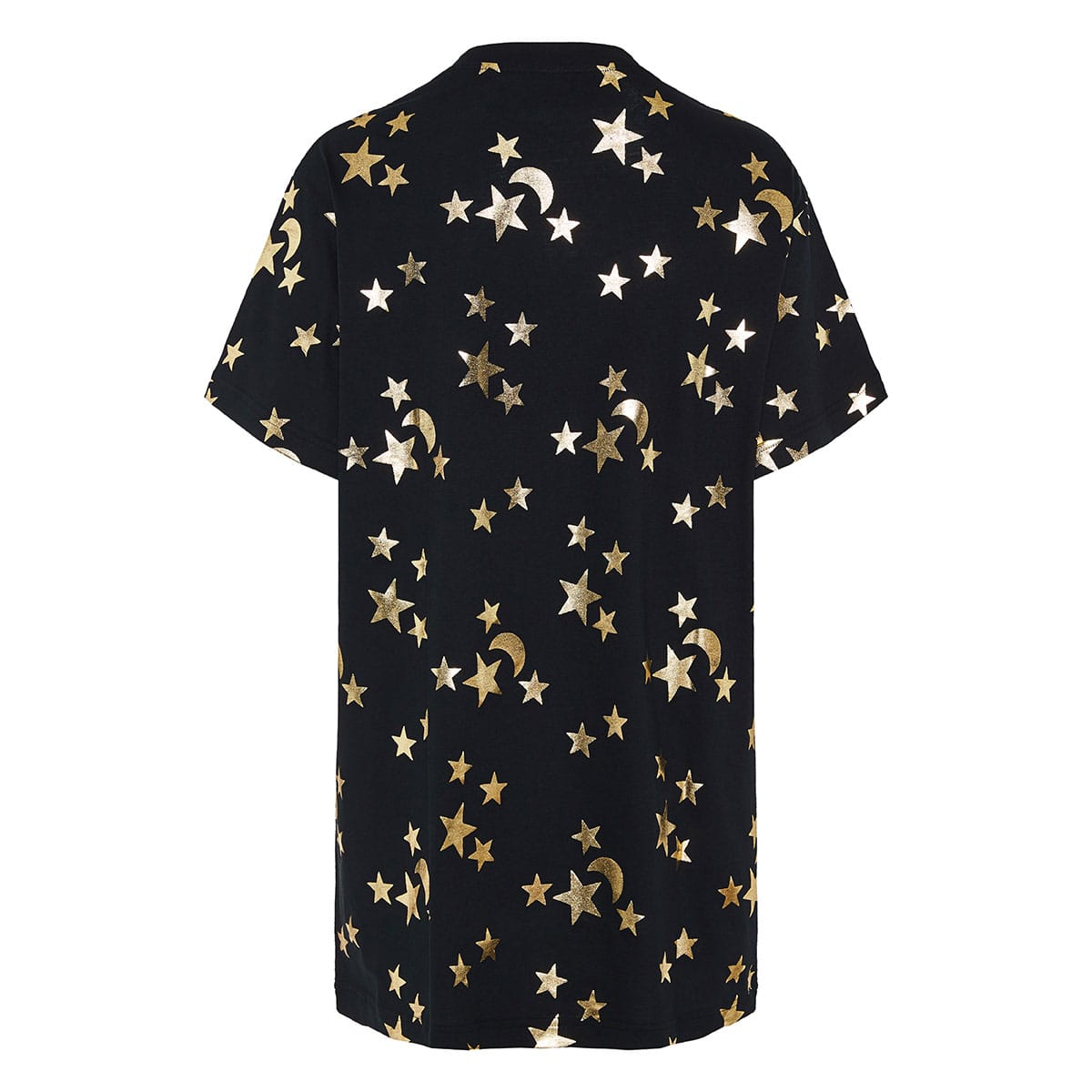 Star-printed oversized logo t-shirt