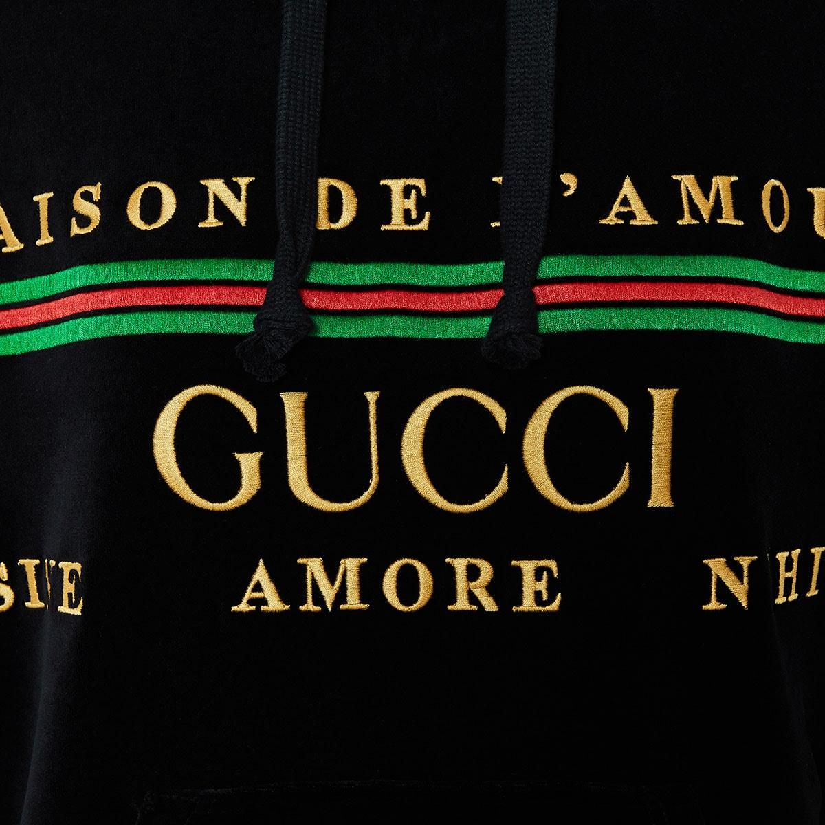Oversized chenille logo hoodie