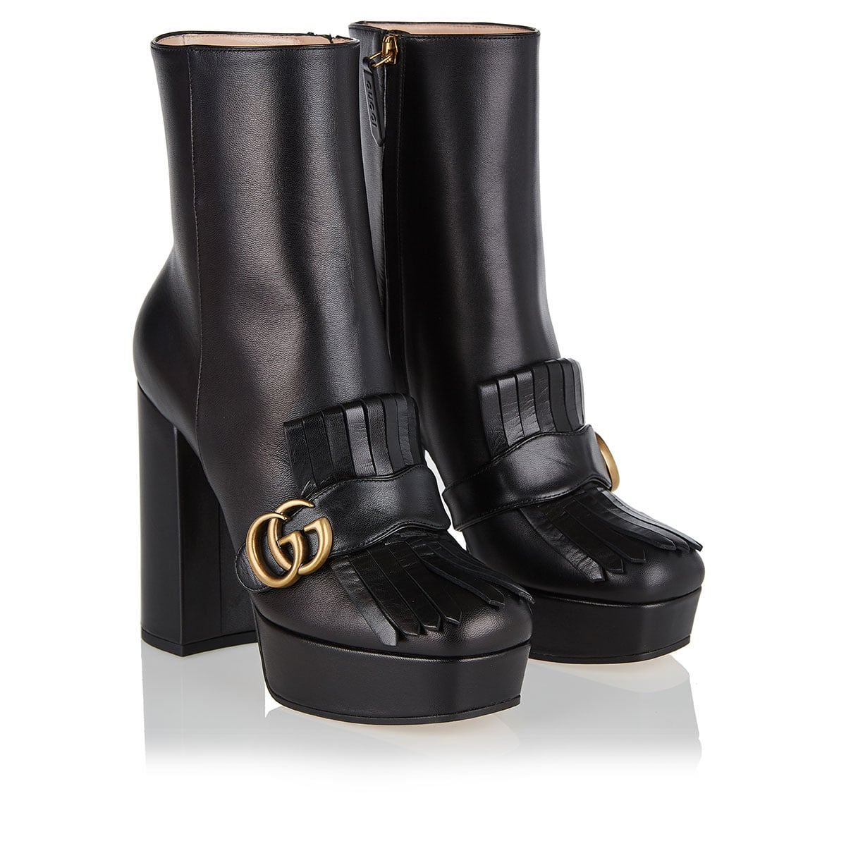 GG platform ankle boots