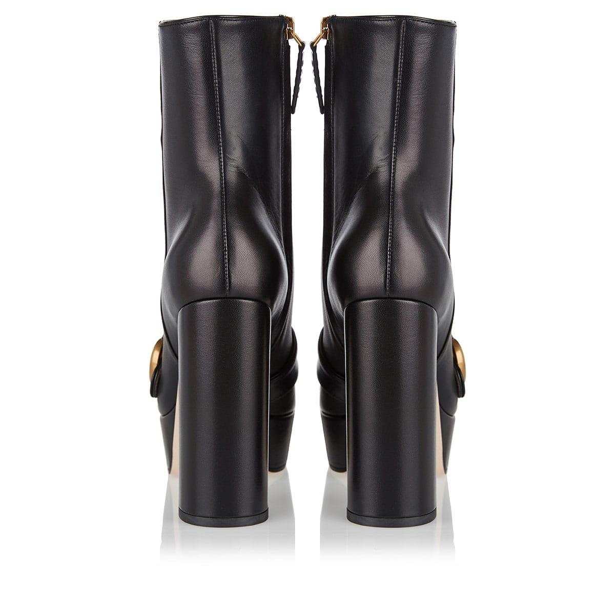 GG platform ankle boots