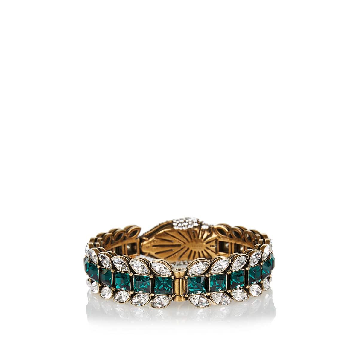 Crystal-embellished snake bracelet