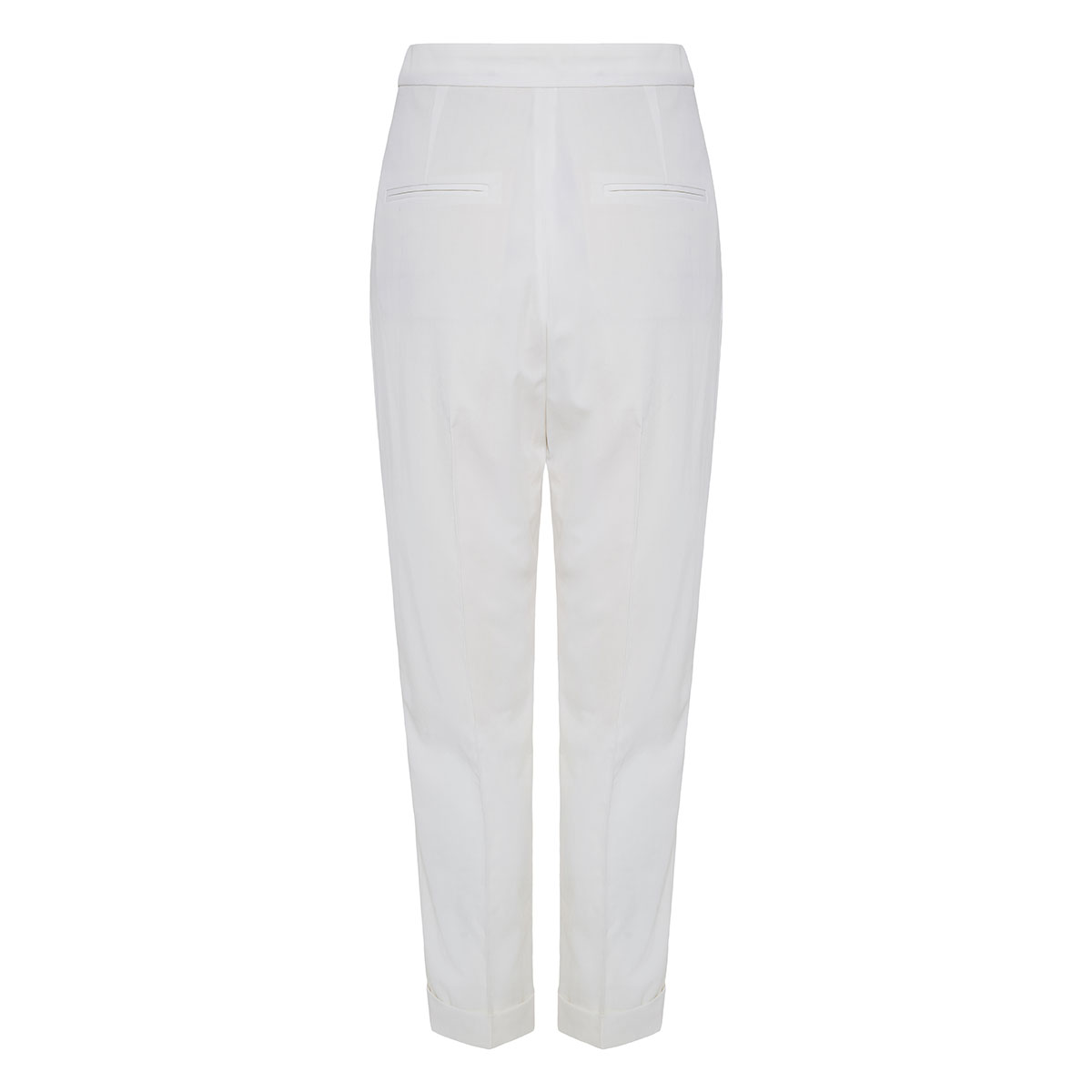 High-waist wool tailored trousers