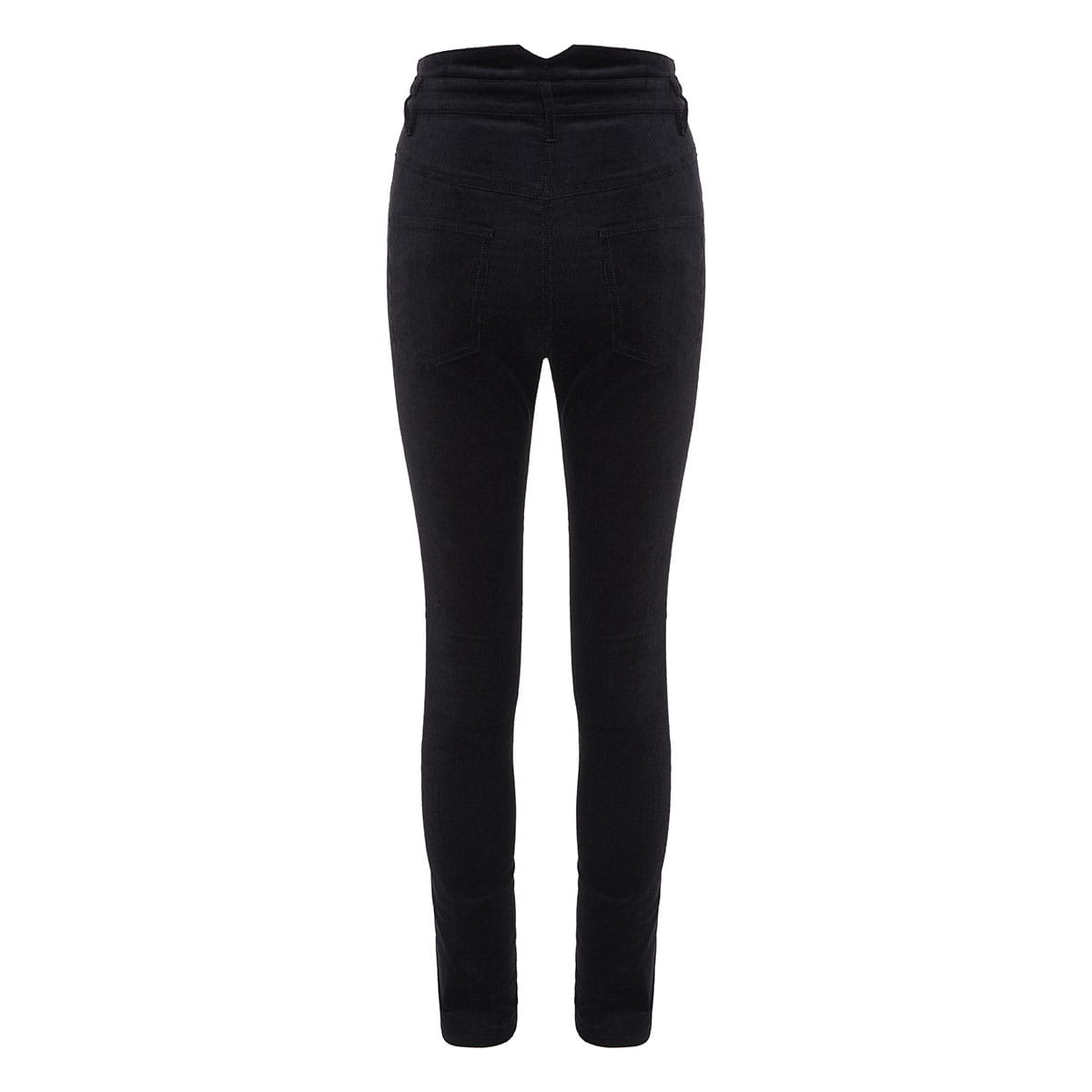 High-waist corduroy skinny trousers