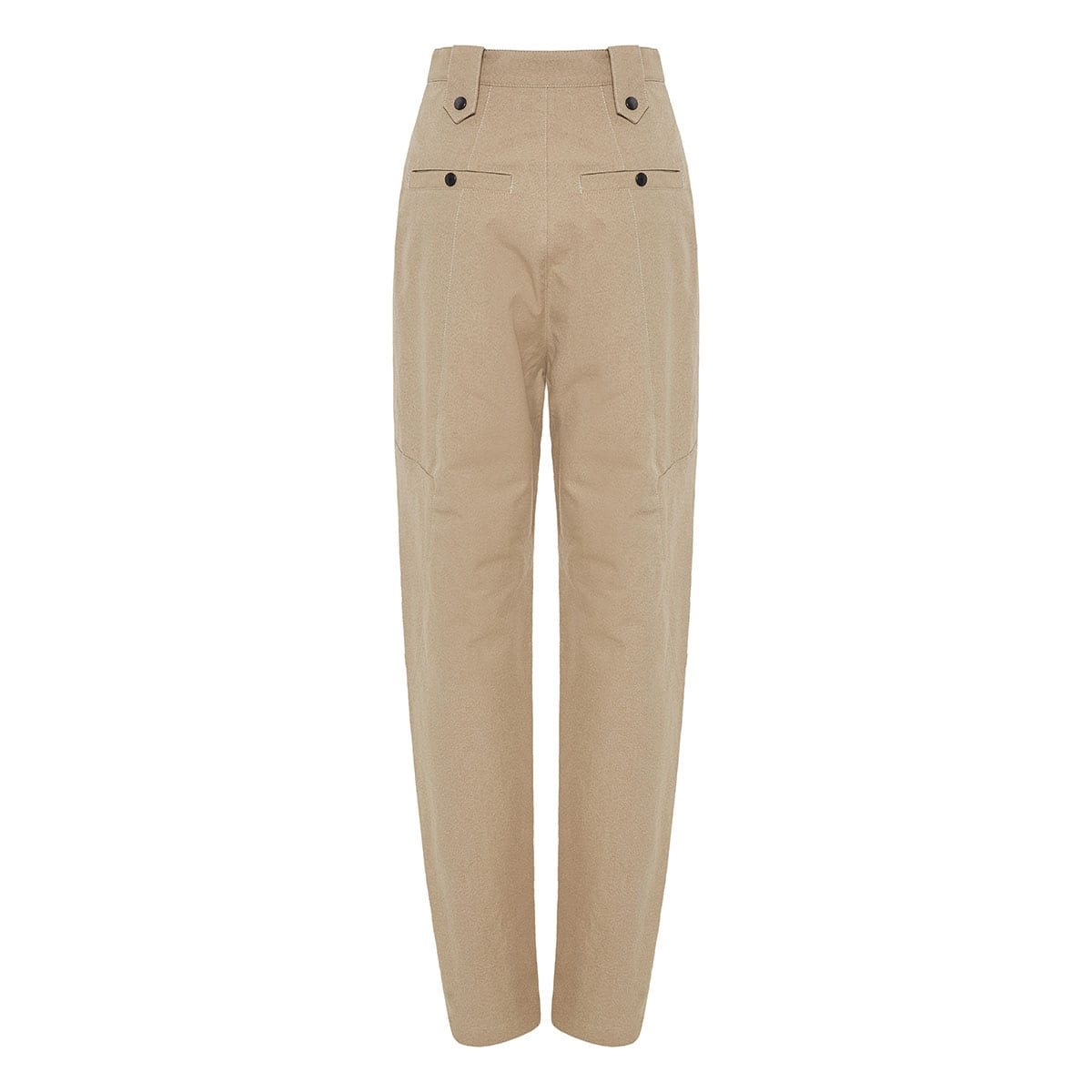 Yerris high-waist cotton trousers
