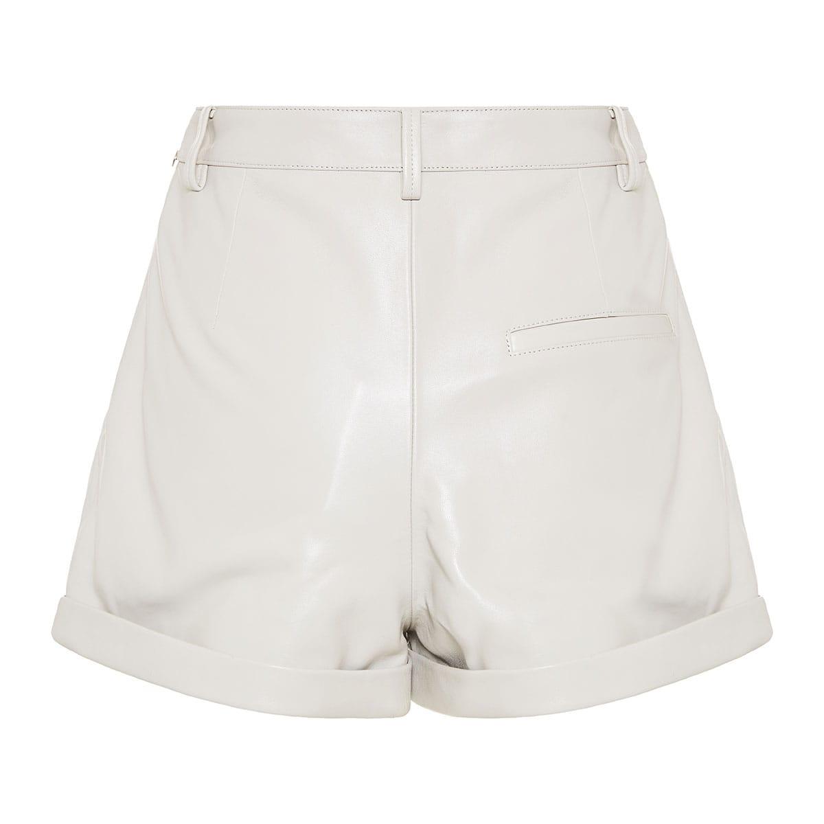 Fabot leather shorts