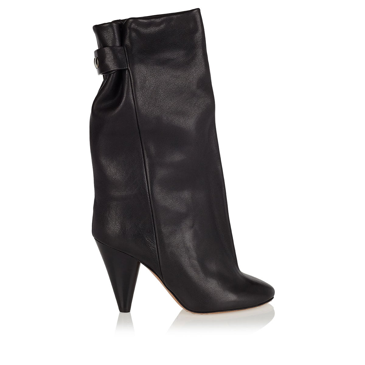 Lakfee slouchy leather boots