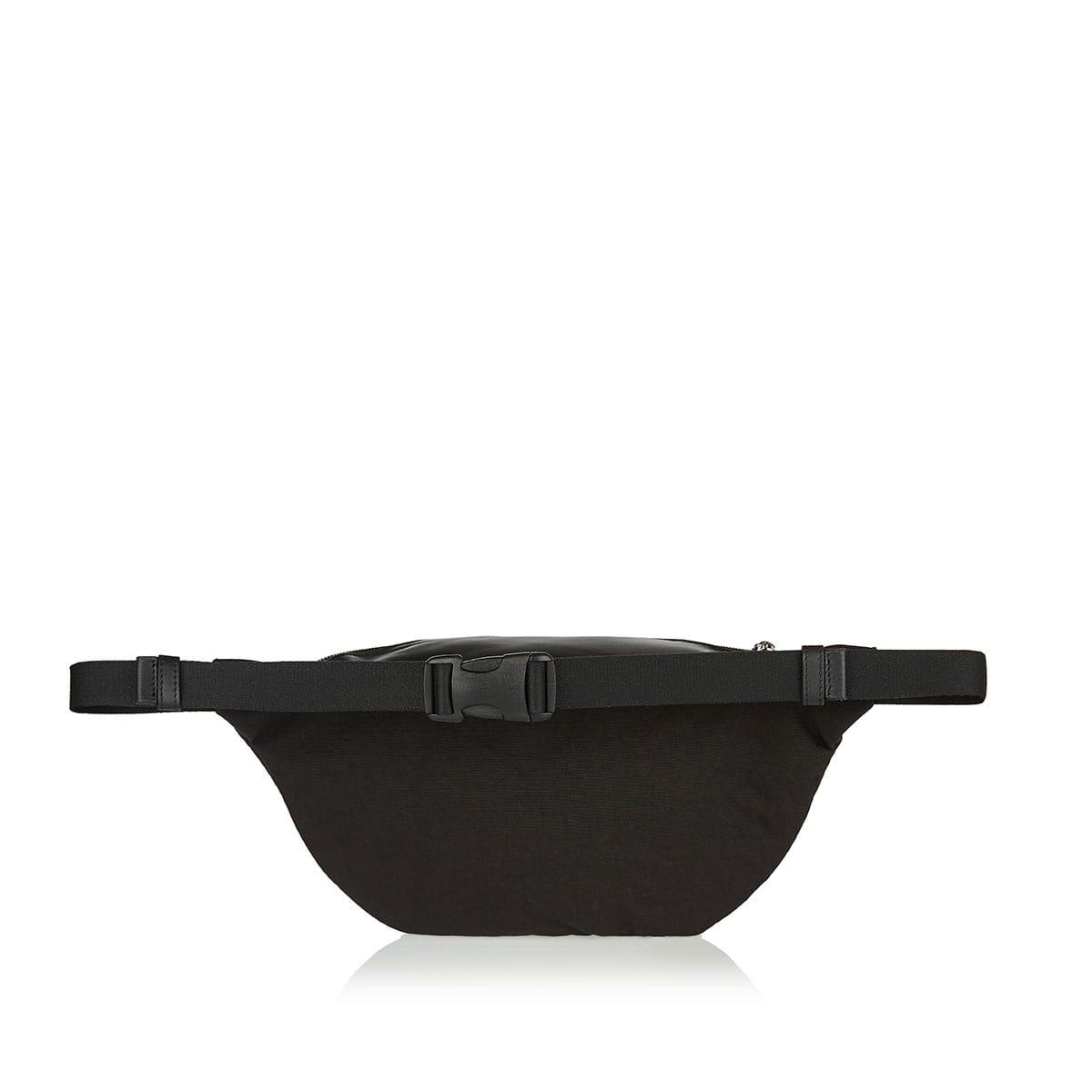 Leather and nylon logo belt bag
