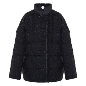 2 MONCLER 1952+VALEXTRA Guada tweed puffer jacket