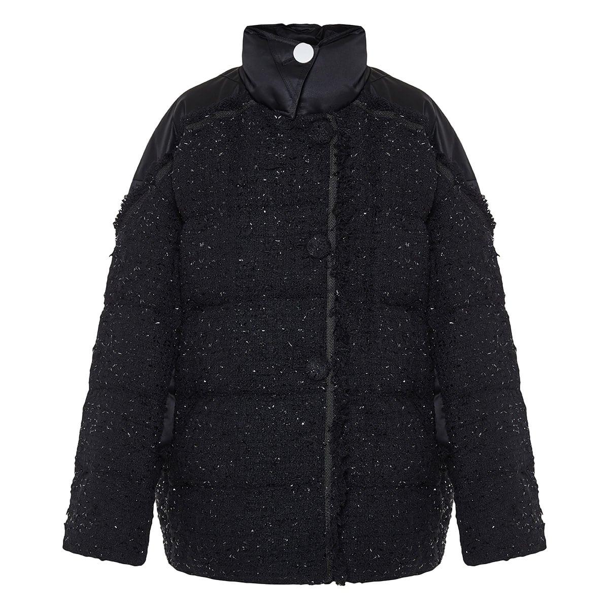 2 MONCLER 1952+VALEXTRA Guada tweed puffer jacket