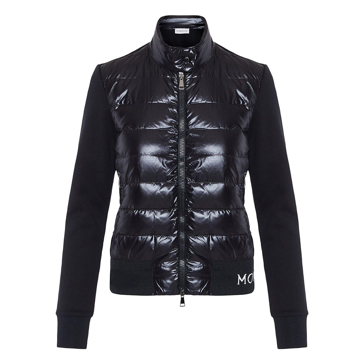 Puffer-paneled cotton jacket