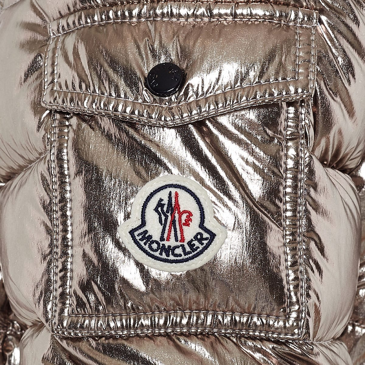 Bady metallic down quilted jacket