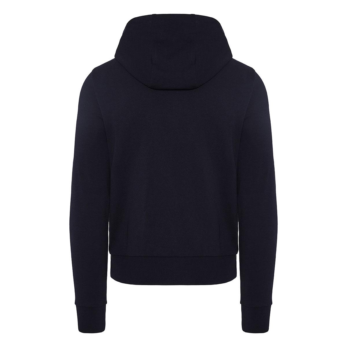 Nylon-paneled zipper hoodie